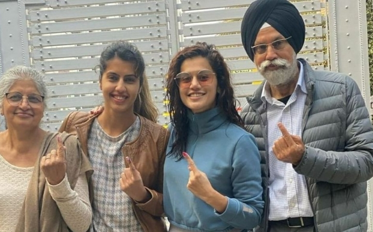 Taapsee's reply to questions on her voting right in Delhi