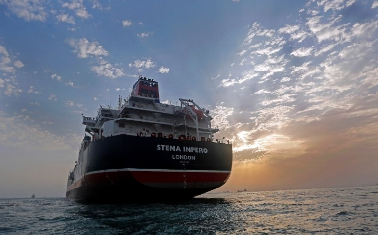 Stena Impero, a British-flagged vessel owned by Stena Bulk, is seen at Bandar Abbas port, July 21, 2019. Picture taken July 21, 2019. Iran, Mizan News Agency/WANA Handout via REUTERS