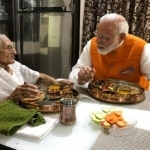 Rotla-shaak and love: PM's birthday lunch with ma